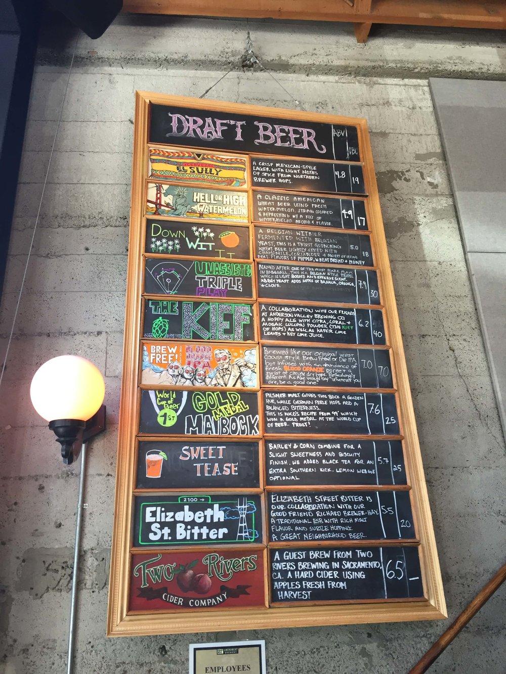 21st Amendment Beer List