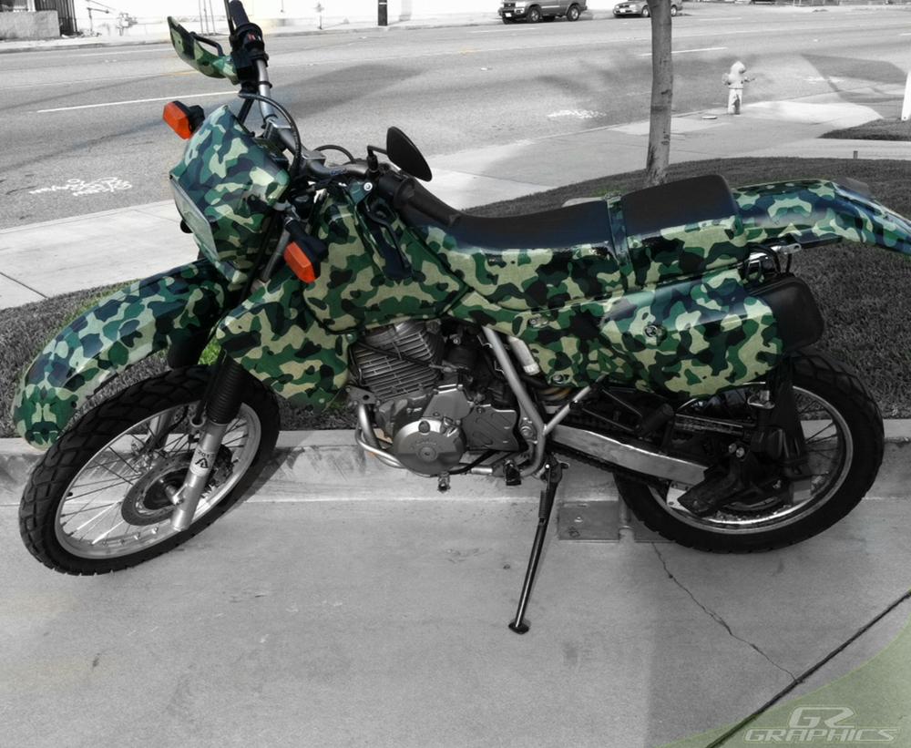 Custom dirt bike helmet wraps