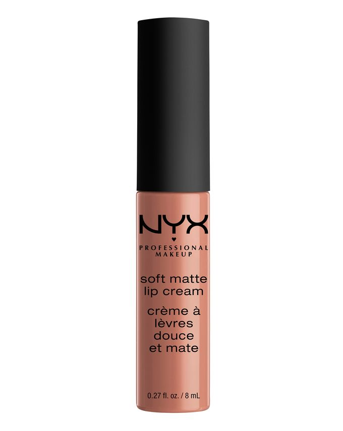 NYX  - Soft matte lip cream in Abu DhabiA creamy but matt texture. And does not budge!!Abu Dhabi is a warm, pinky nude.