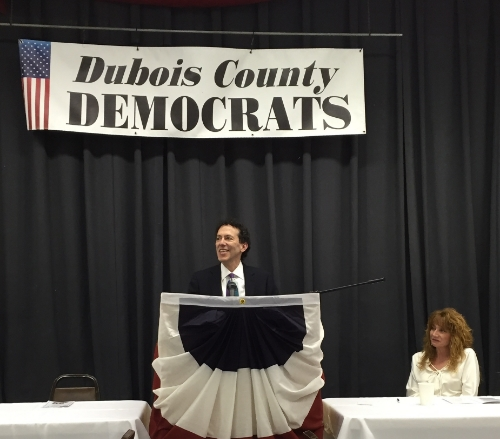 Dr. O with the Dubois County Democrats
