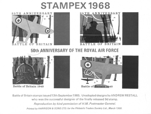 An alternative proposal for the 1965 Battle of Britain Royal Mail stamp issue.