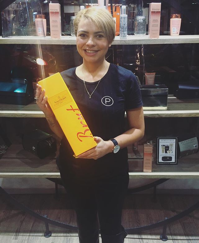[ Crows Nest Salon ] is proud to announce that our stylist Phoebe landed her 457 visa approval yesterday 🎉🎈and we couldn't be happier to share some bubbly with her last night, in celebration! . #PORTFOLIOhair #CityOfSydney #Sydney #CrowsNest #SydneySalon #Champagne #VisaApproval #SalonStaff #BlondeHair #SeeSydney #Sydneysider #Sydneysiders #LoveSydney #Hairdressing #HairdressingSalon #InstaLove #Inspiration #Pinterest #Instagram #Wella #WellaProfessionals #VeuveClicquot