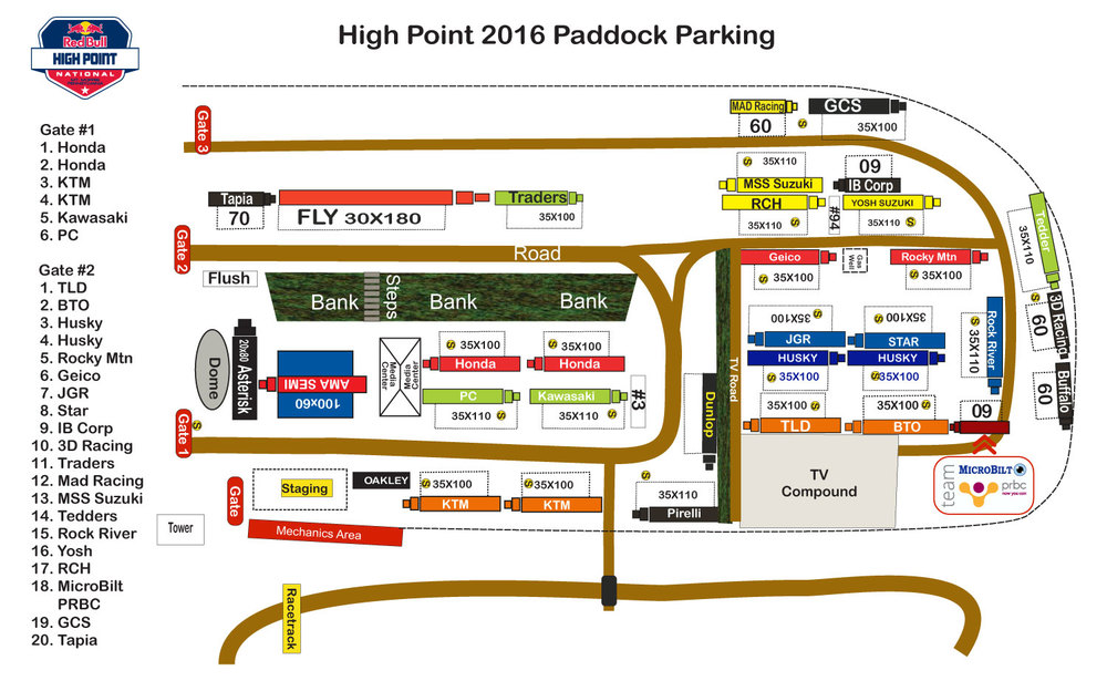 High Point Paddock Parking.