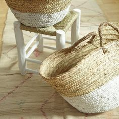 the large Hand woven baskets, ideal for the farmers markets or a day at the beach.