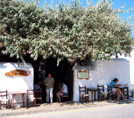 ONE OF THE MANY CASUAL CAFES ON THE ISLAND
