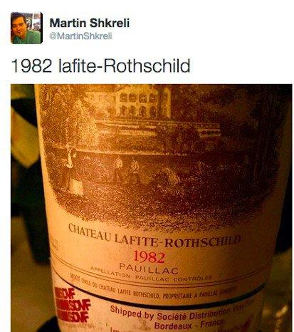 1982 Chateau Lafite-Rothschild ~$40k