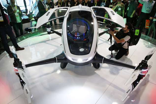 Chinese Unveil The World's First Drone To Transport Humans