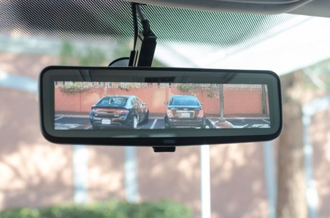 Electronic Video Mirror. Ambarella (AMBA). CES 2016.