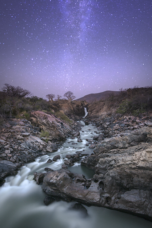 Epupa Falls At Night