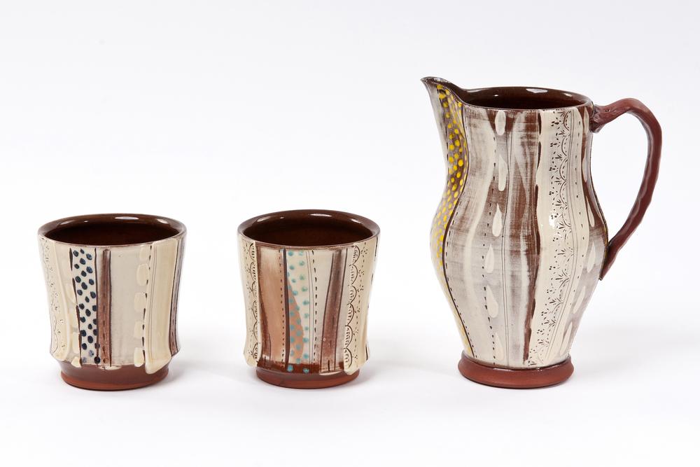 Jug £58, Juice Cups £22