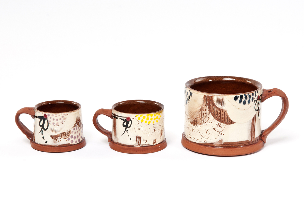 Espresso Cups £28, Mugs £32