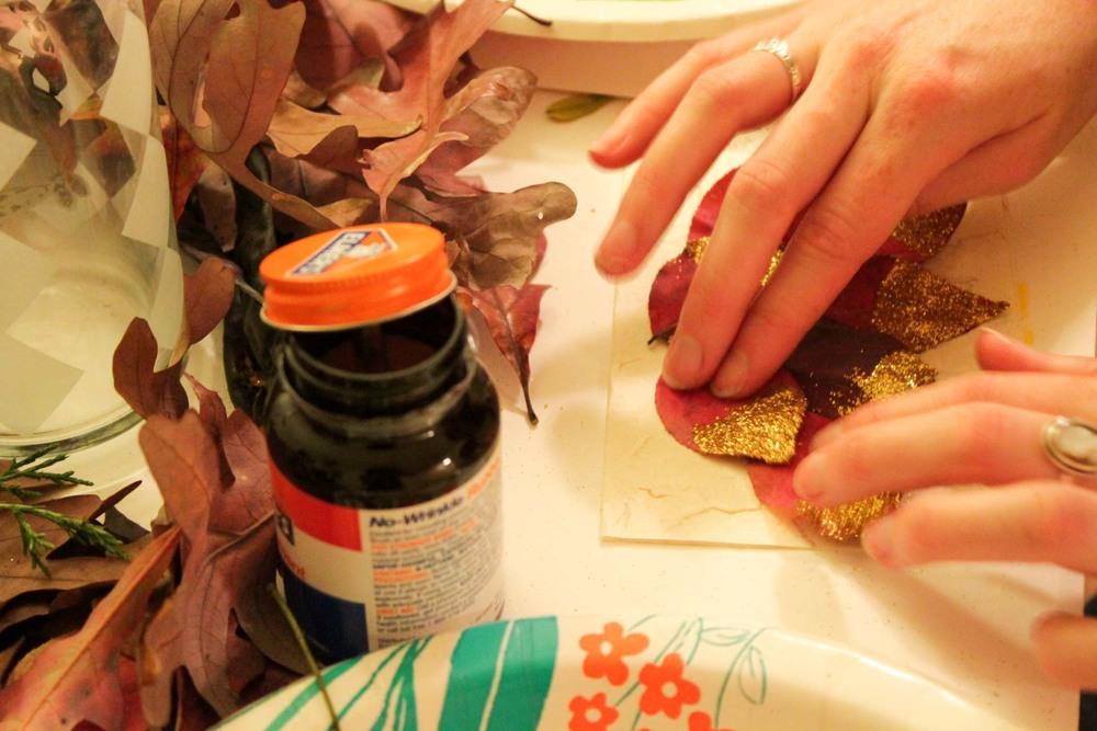 glitter-leaf-cards-adult-craft