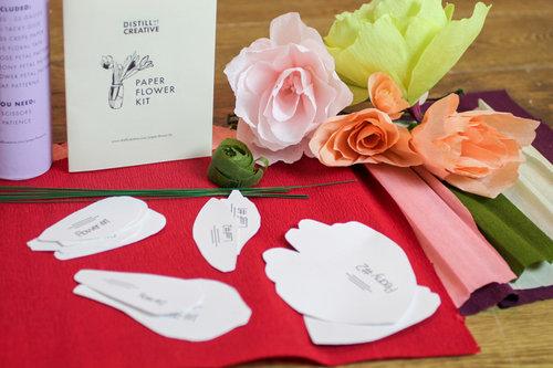 Paper Flower Kit Distill Creative