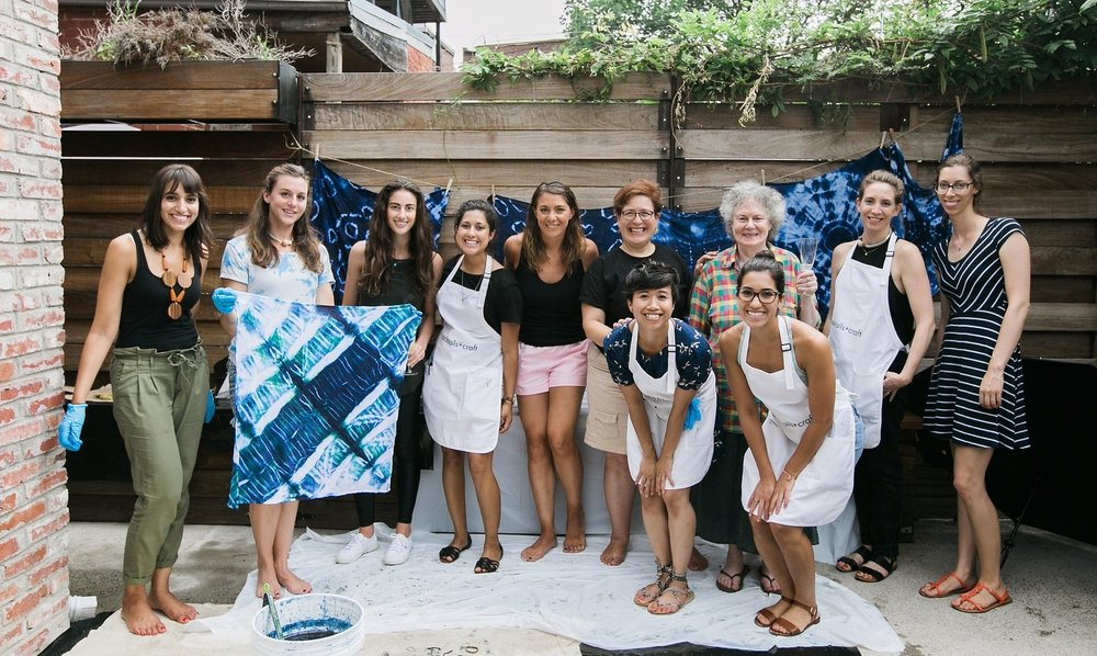 Shibori Workshop with Kicheko Goods and Printed Wild in Washington, DC. Photo by Jen Eun.