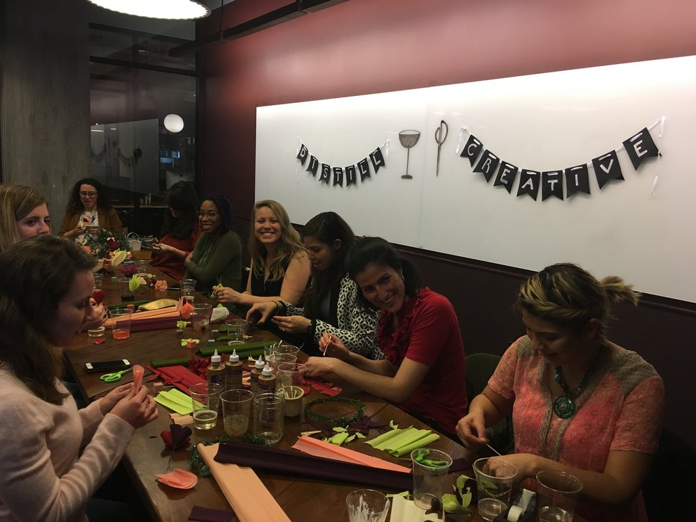 Paper Flower Crown Workshop & Distill Creative Launch in Washington, DC