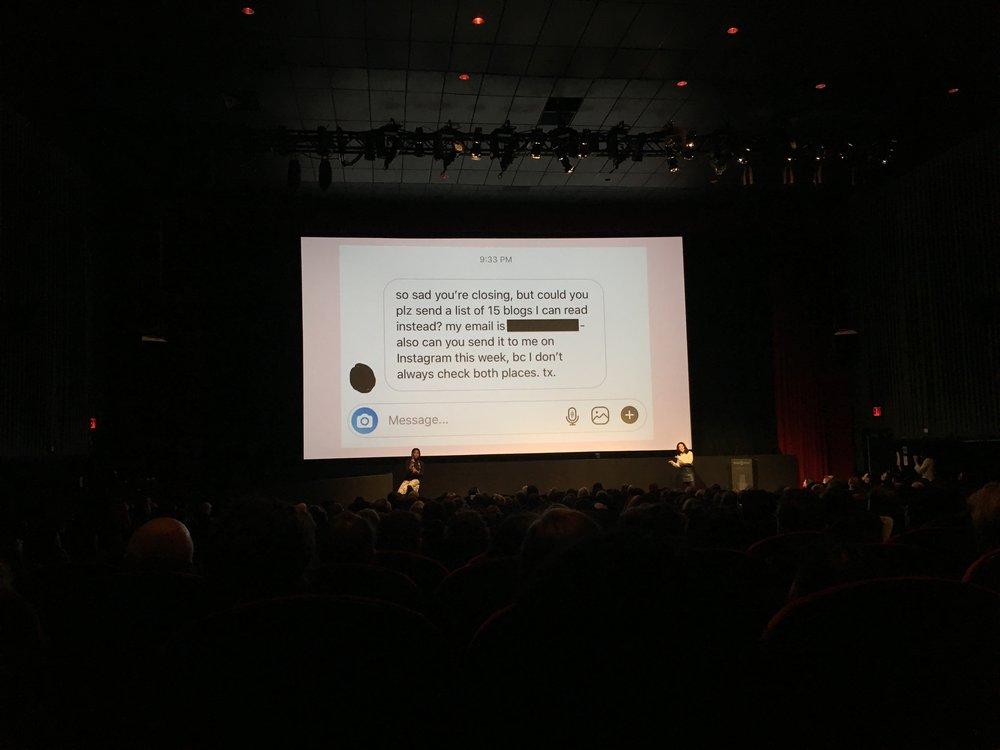 Grace Bonney at CreativeMornings (I love this slide)