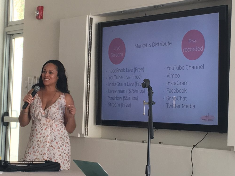 Maisha Dyson  on public speaking and being in your content, The Ace, Alt Oasis, Palm Springs