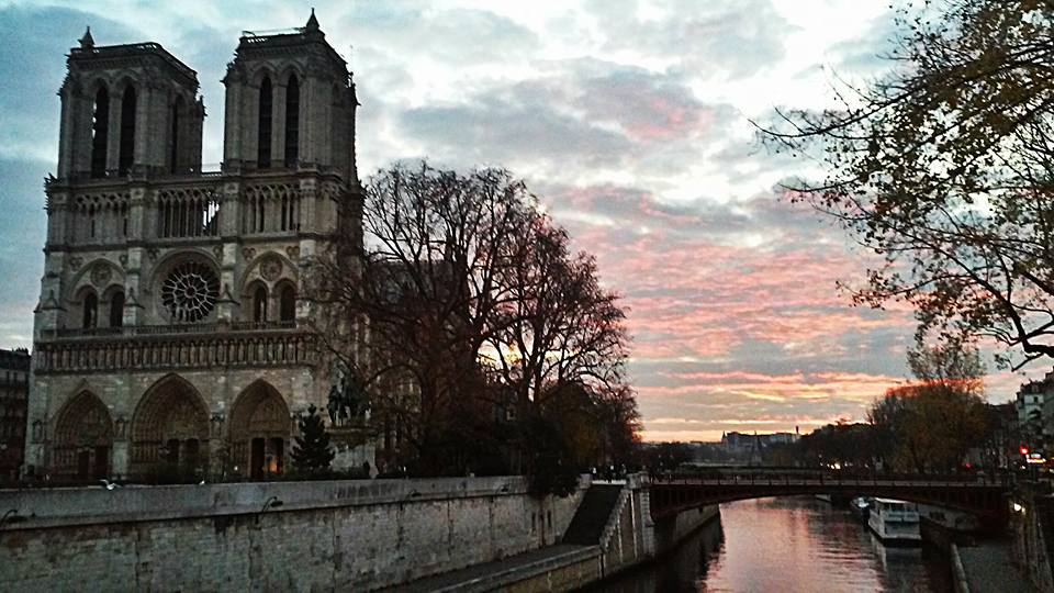 Notre Dame during Sunrise