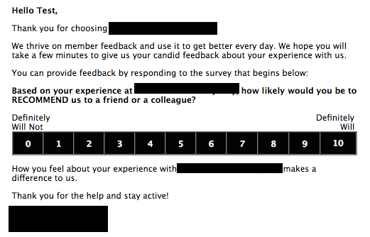 *This is just an example and may or may not be the actual wording used for your clubs survey invite.
