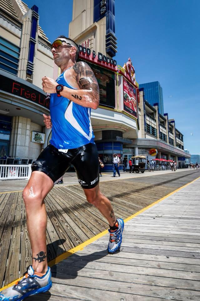 The author, fit and sharp, at Challenge Atlantic city in 2014, where he finished 3rd