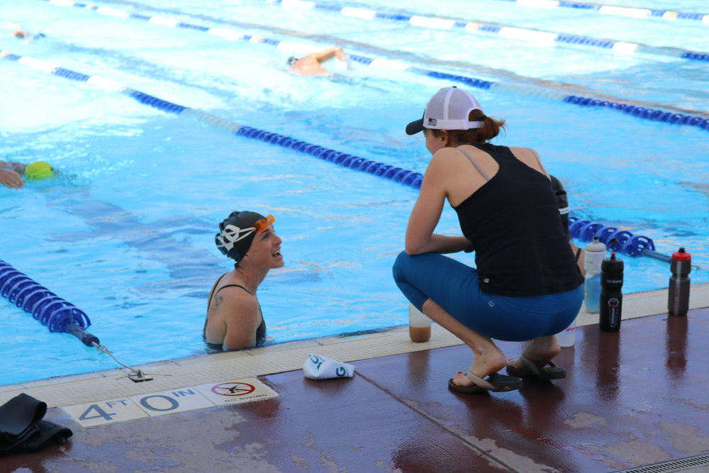 CBCG Coach Molly Balfe works with one of our Bend Campers, Sarah Barkley