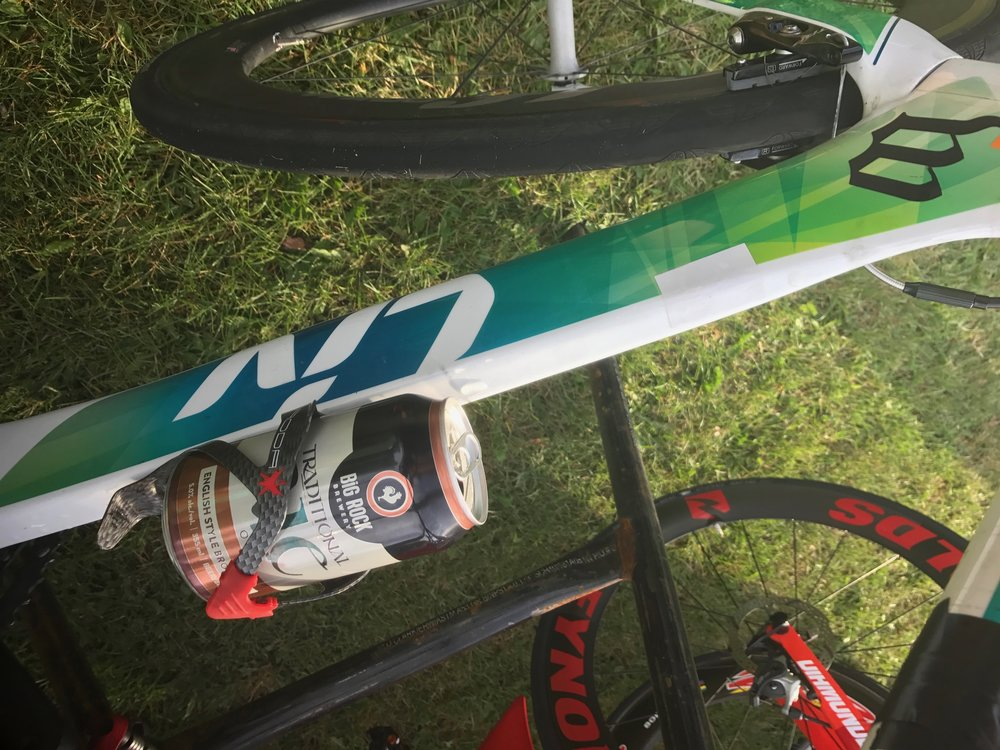 VT's bike compromised by Mike the night before Great White North 2017