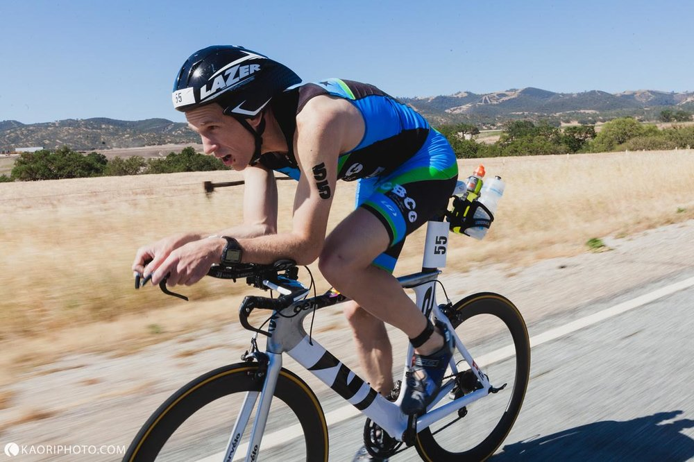 Andrew in perfect aero form at Wildflower Long Course 2018 photo: kaoriphoto.com