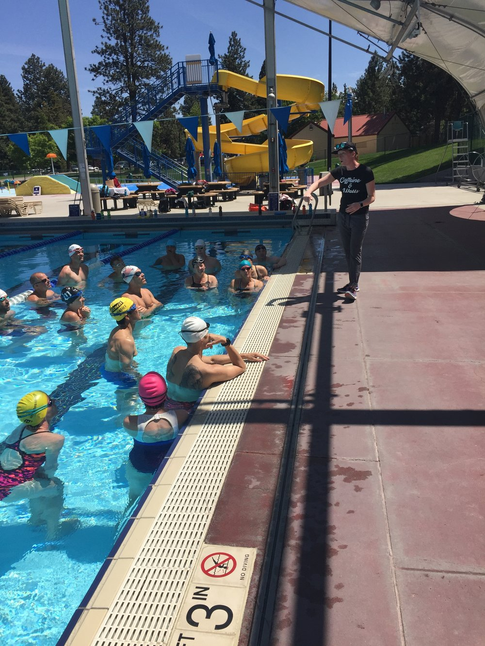The Author, Molly Balfe, in her Element, Working with Athletes on Swim Technique