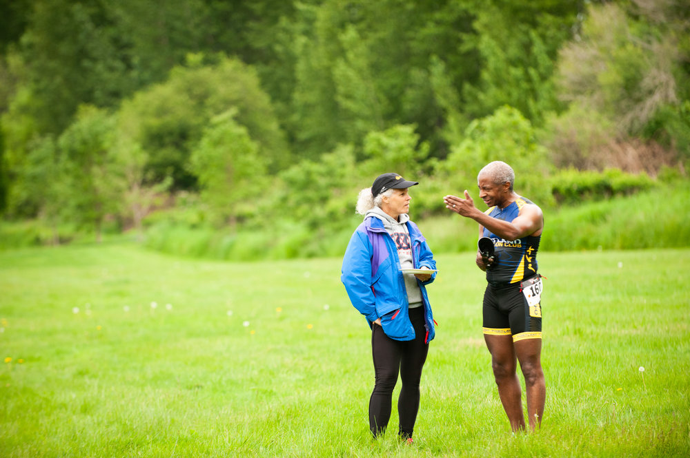 Morgan in the field with CBCG teammate, Sue Moote; photo: Darcie Elliott Photography