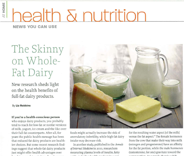 The Skinny on Whole-Fat Dairy_Liz Robins_Organic Spa Magazine