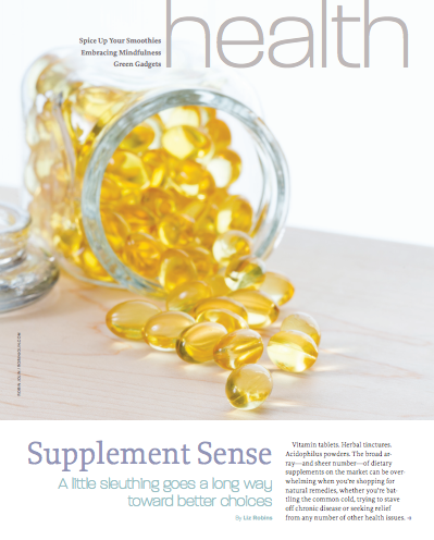 Supplement Sense_Liz Robins_Organic Spa Magazine
