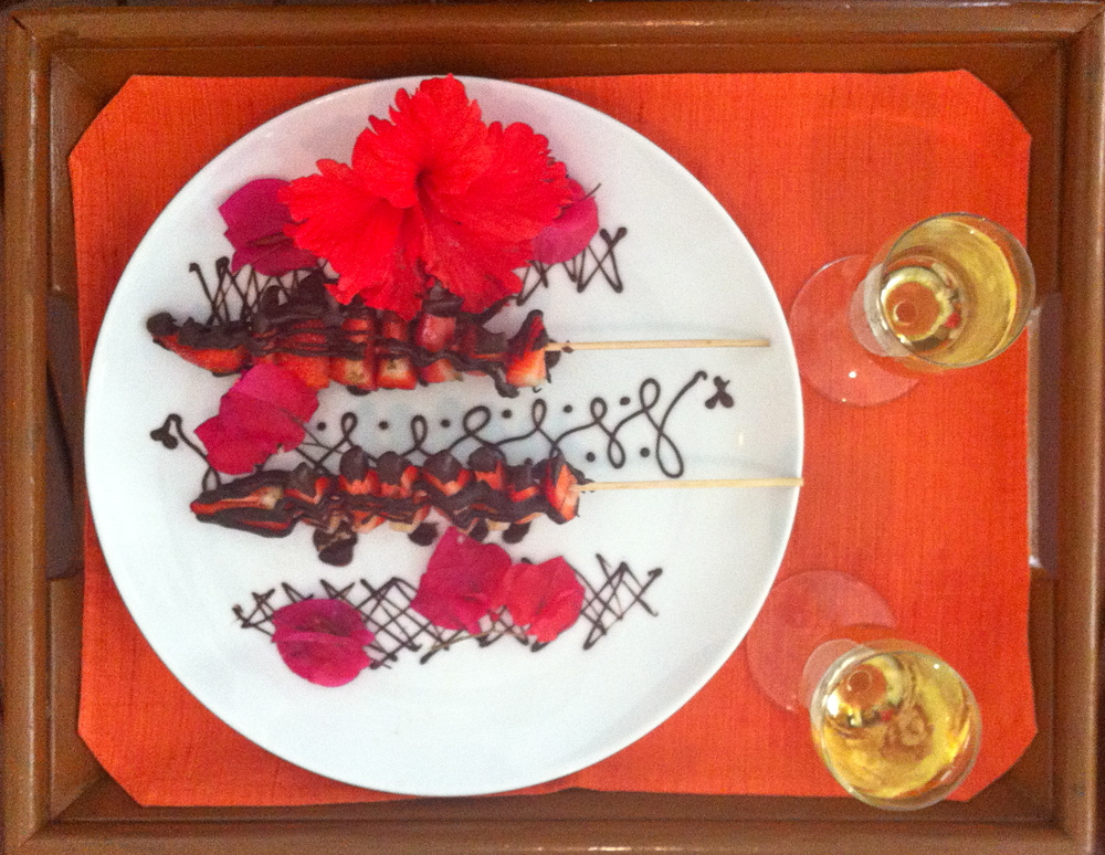One highlight of the Aphrodisiac Chocolate Invigoration at Belmond Maroma Resort's Kinan Spa in Riviera Maya, Mexico.