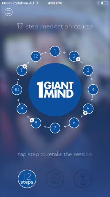 1 Giant Mind app 12 steps