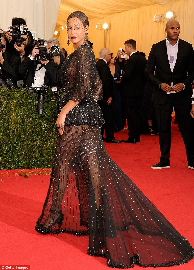 Beyonce wearing Givenchy Haute Couture 2014 *via Getty Images*