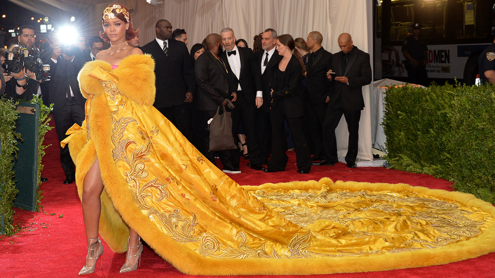 Rihanna in Guo Pei 2015 *via Pinterest