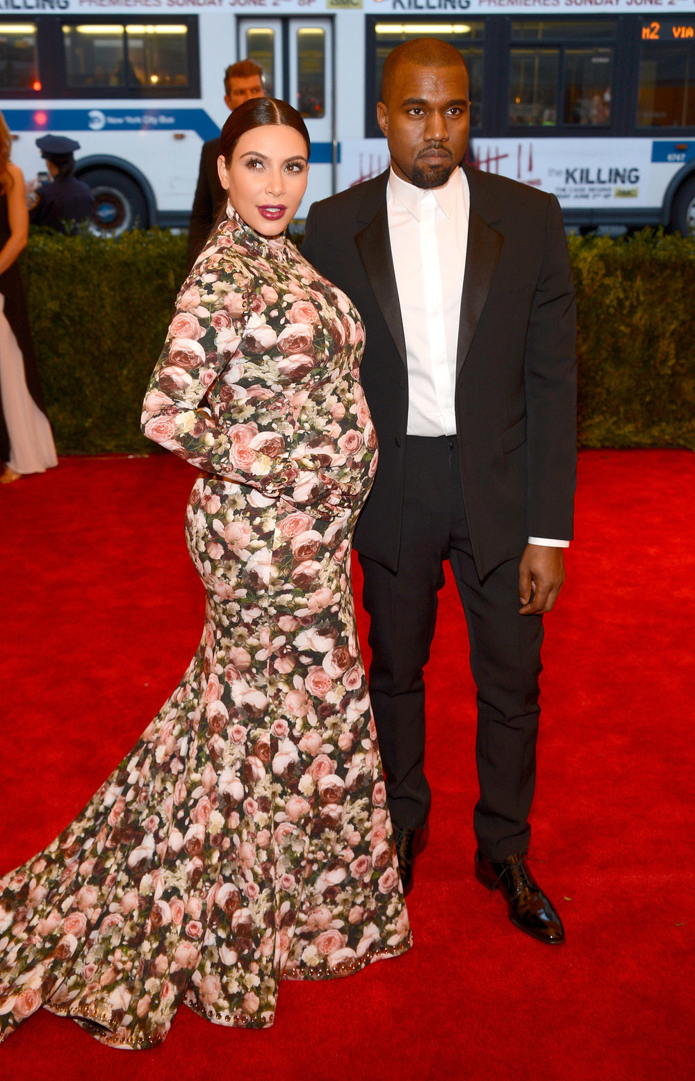 Kanye and Kim Kardashian-West in Givenchy, 2013 *via pinterest*