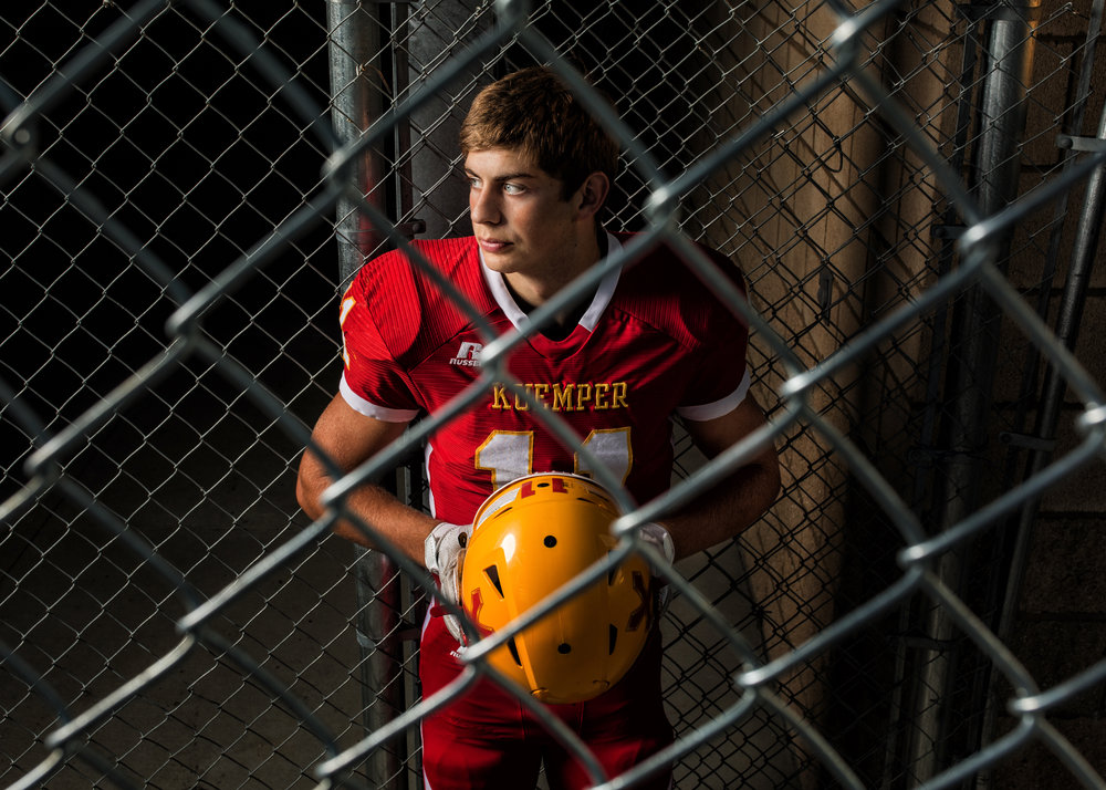Kuemper Senior Alex Heiman football senior portrait.jpg