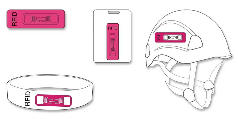 1. RFID tags are embedded into items commonly worn by participants.