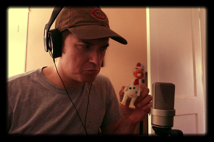 """Recording session for sound design of Theatre [502]'s """"Auctioning the Ainsley's"""""""