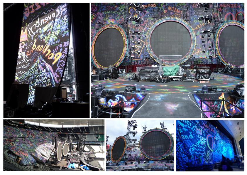 Coldplay Drapes by Paris MX World Tour 2012