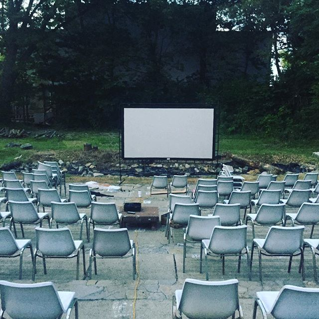 Setting up for our trial run for FREE MOVIE NIGHT!!!! We are providing a completely free showing of Wonder with Julia Roberts and Owen Wilson. It's Friday night at dark in the amphitheater behind the fort. If you want to enjoy a fun family night come on out. We will be accepting donations for the fort!  #freemeansfree #familynight