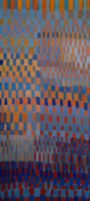 Orange and Blue, 60''x30'', oil on canvas, 2013