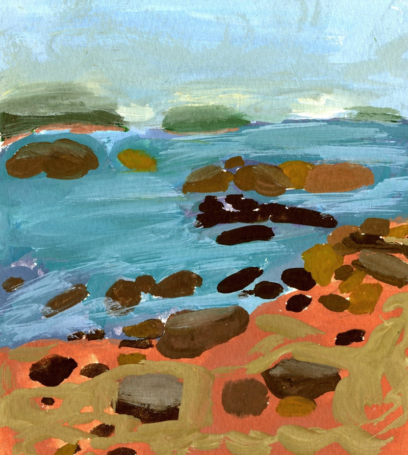 Stonington Maine, gouache on paper, 5''x7'', 2016
