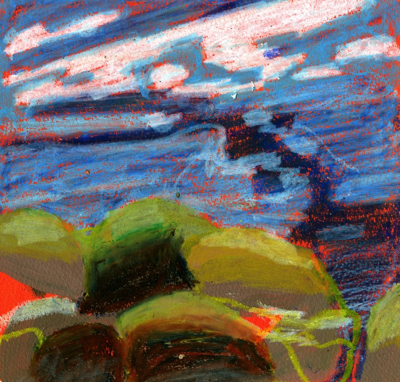 Stonington Maine study, oil pastel on paper, 10''x10'', 2016