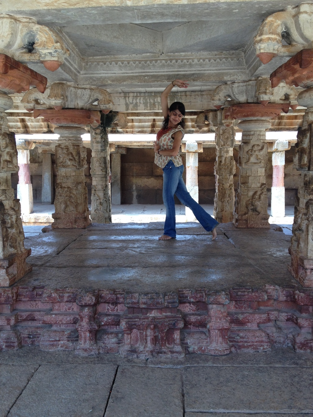 As you can tell I COULD NOT get enough of the gorgeous 9th-century temple of Bhoganandeswara. I am dancing where the devadasis (temple dancers) once danced!