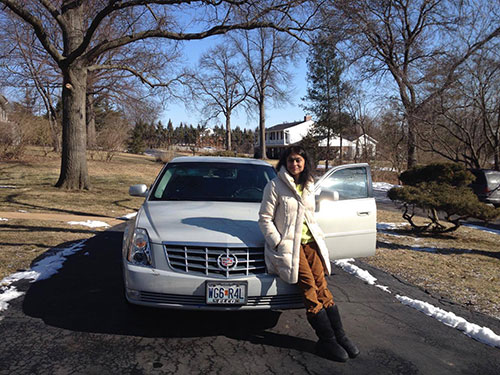 The day we had to sell my dad's beautiful 2010 Cadillac DTS....it's the subject (well, one of the subjects) of my piece in Panorama, Dr. Premachandra's Pilgrimage.