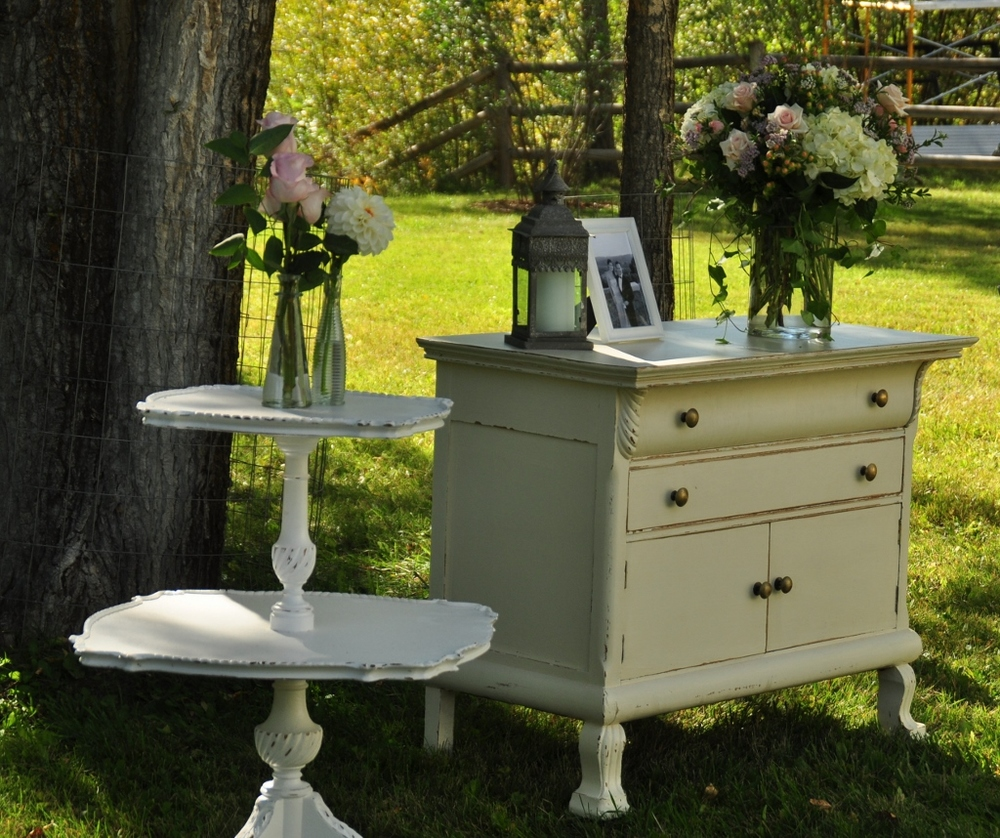 Shabby Chic Dresser and Tier Table