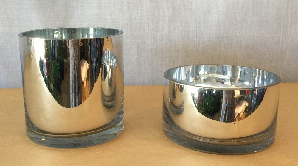 Silver glass rounds