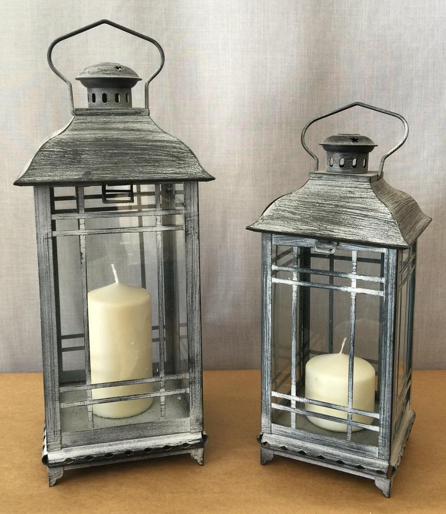 Lantern – Grey White washed