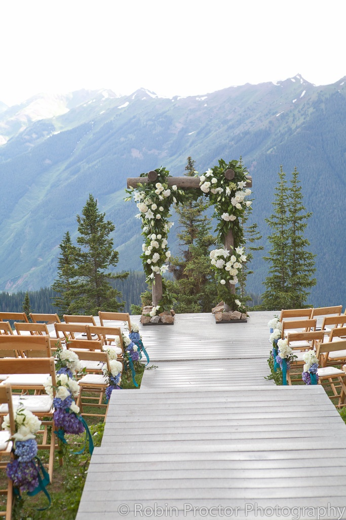 Log arched ceremony on Aspen Mountain